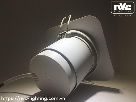 NSPLED1233 NSPLED1235 NSPLED1237 NSPLED1239 - Đèn rọi âm trần LED COB liền khối, vành xoay chỉnh hướng 15°, thân và vành polycarbonate, chấn lưu liền