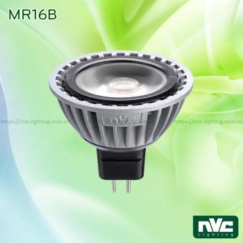MR16B 4W - Bóng chén LED COB chân cắm G5.3, điện áp 12V, thân nhôm đúc anodized cao cấp, mắt vân chống chói, góc chiếu 25°, có thể DIM