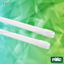 T8E 9W 18W - Bóng đèn tuýp LED ống thẳng T8 thủy tinh tổng hợp pha nhựa chống dập vỡ, chóa nano phản quang, chip SMD 2835, góc chiếu 180°, tuổi thọ 25.000h, Ra 70, PF 0.9