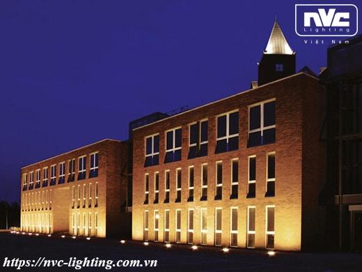 Hiệu ứng chiếu sáng quá ấn tượng của đèn LED âm đất NVC Lighting