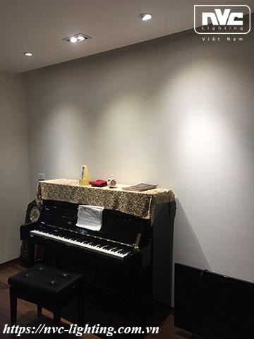 Hiệu ứng chiếu sáng phòng học đàn piano rất tuyệt vời của sản phẩm NDL502SB
