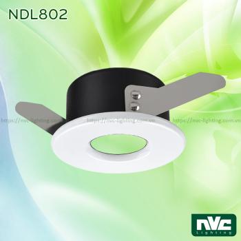 NDL802 - Đèn âm trần module chống ẩm, thân nhôm đúc, zoăng cao su kín nước, bóng ẩn cách mặt đèn chống chói, chống nhiệt