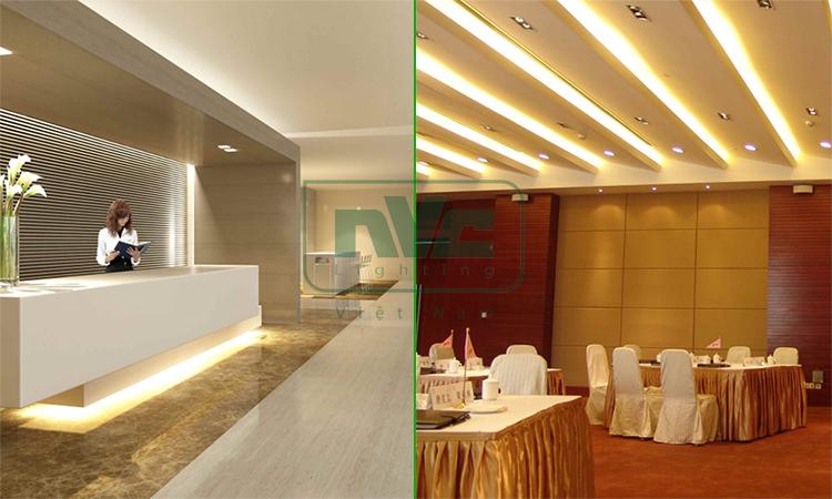 Ứng dụng chiếu sáng hắt trần, hắt khe bằng LED dây NVC Lighting
