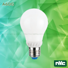 A60G 3W 5W 7W 9W - Bóng đèn LED bulb 360° đui xoáy E27, chóa thủy tinh, tản nhiệt nhôm đúc trong thân bóng, điện áp 110V-240V