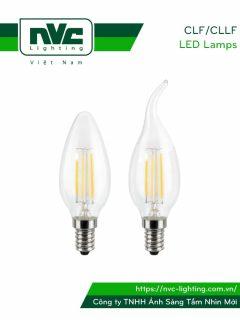 CLF CLLF - Bóng nến LED dây tóc đui E14 3.5W, góc chiếu 360° giảm thiểu tối đa hao tổn ánh sáng