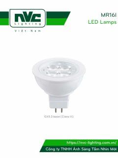 MR16I 4W 5W 6W - Bóng nón LED chân cắm G5.3, điện áp AC 220V hoặc DC 12V, vỏ polycarbonate, tản nhiệt nhôm đúc trong thân bóng