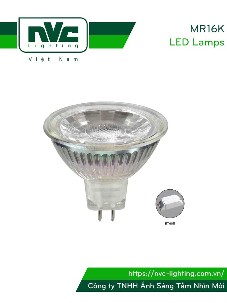 Bóng nón LED/Bóng chén LED chân cắm MR16K