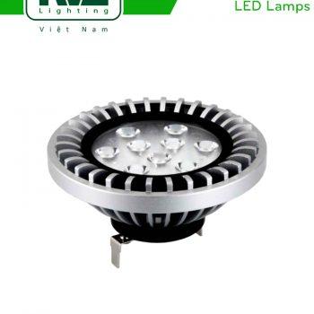 QR111C 15W - Bóng đèn LED AR111 thân nhôm đúc nguyên khối anodized phủ sơn tĩnh điện chống ăn mòn, mắt vân chống chói