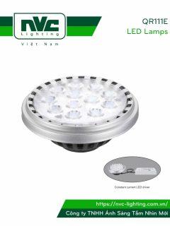 QR111E 20W, QR111E-DIM 20W - Bóng đèn LED AR111 thân nhôm đúc nguyên khối phủ sơn tĩnh điện chống ăn mòn, mắt vân chống chói
