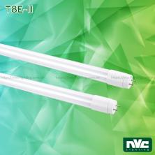 T8E-II 9W 18W - Bóng đèn tuýp LED ống thẳng T8 thủy tinh tổng hợp pha nhựa chống dập vỡ, chóa nano phản quang, chip SMD 2835, góc chiếu 180°, tuổi thọ 25.000h, Ra 70, PF 0.5