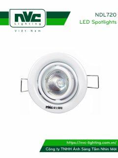 NDL720 - Đèn âm trần module 2 vành xoay, thân thép sơn tĩnh điện, bóng rời MR16