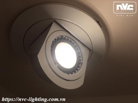 NDLA801 - Đèn âm trần module, xoay ngang 355°, xoay dọc 90°, thân hợp kim nhôm đúc, bóng rời MR16 G5.3