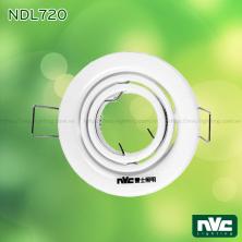 NDL720 - Đèn âm trần module 2 vành xoay, thân thép sơn tĩnh điện, lắp bóng rời MR16