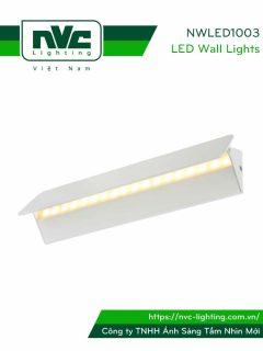 NWLED1003 - Đèn LED gắn tường cho không gian chung nhà hàng, sảnh khách sạn, văn phòng, công suất đa dạng, thân nhôm đúc phủ sơn tĩnh điện trắng hoặc đen, có thể điều chỉnh góc chiếu