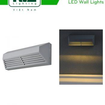 NWLED3535 - Đèn LED gắn tường SMD 5.5W chiếu hành lang, ban công, thân nhôm đúc nguyên khối, kính cường lực IP54