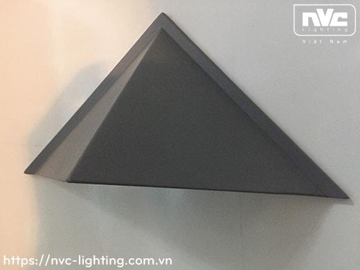NWLED3536 3W hình cầu & NWLED3537 3W hình thoi - Đèn LED gắn tường COB chiếu hành lang, ban công, thân nhôm đúc nguyên khối, kính cường lực IP54