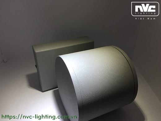 NWLED5512 - Đèn LED surface wall light gắn tường 7.5W & 14.5W IP54 25° mặt tròn, chiếu 1 đầu & 2 đầu, chip CREE, thân nhôm đúc, kính cường lực trong