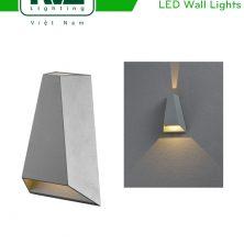 NWLED5522 - Đèn LED gắn tường surface wall light 7W IP54 chiếu 2 đầu, chip CREE, dùng hành lang, ban công, thân nhôm đúc, kính cường lực trong