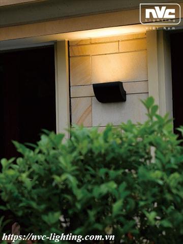 NWLED5542 - Đèn LED surface wall light gắn tường 16W 47° chiếu sáng 1 đầu, chip CREE, thân nhôm đúc, mắt vân chống chói, kính cường lực mờ, IP54