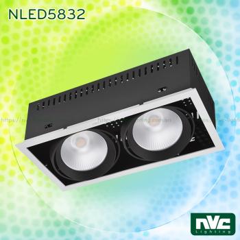 NLED5831 NLED5831A NLED5832 NLED5832A NLED5833 NLED5833A - Đèn LED multiple light CRI 90, vành hợp kim nhôm cao cấp phủ sơn tĩnh điện chống oxy hóa, vân tán quang, vành xoay 40°