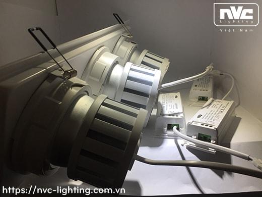 NMTLED5851 9W, NMTLED5852 2x9W, NMTLED5853A 3x9W - Đèn LED multiple downlight LED COB mặt lõm, mắt ngọc chống chói