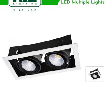 NLED531 NLED532 - Đèn LED multiple light COB đế cong, chóa vân tán sáng