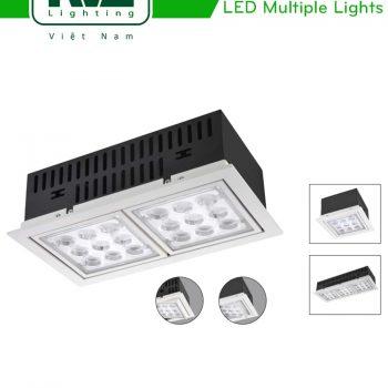 NLED561 NLED562 NLED563 - Đèn multiple light vành lật, chóa vuông