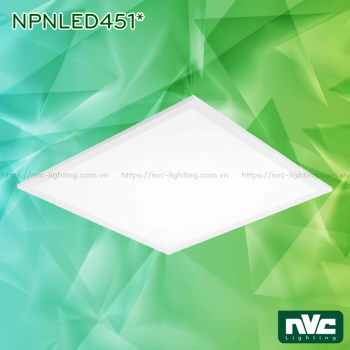 NPNLED4513 37W, NPNLED4514 43W - Đèn LED panel lắp đặt 3 trong 1 (lắp âm, lắp nổi & treo) khung bằng nhôm đúc phủ sơn tĩnh điện cao cấp chống oxy hóa, góc chiếu 110°