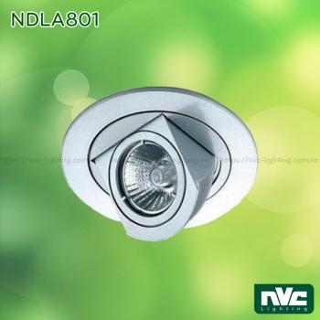 NDLA801 - Đèn âm trần module, xoay ngang 355°, xoay dọc 90°, thân hợp kim nhôm đúc, lắp bóng rời MR16 G5.3