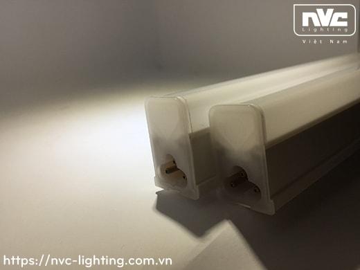NBTLED T5P T6P - Bộ đèn tuýp LED T5/T6 nhựa vuông, có nút nhấn công tắc, xuyên sáng 2 đầu 99%