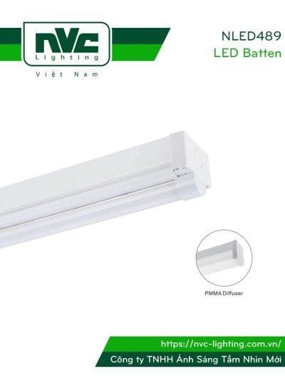 NLED489 - Bộ đèn tuýp LED công suất lớn, bóng đơn hoặc đôi