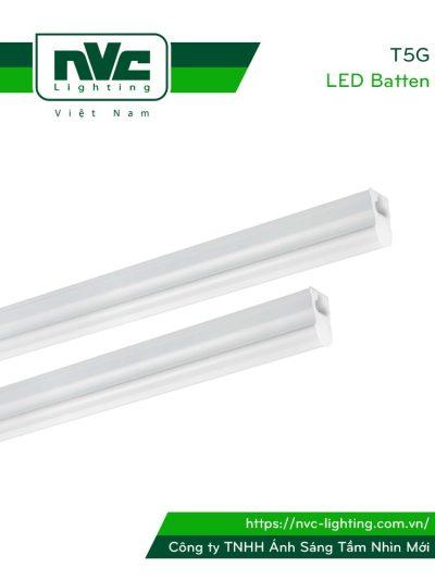 T5G - Bộ đèn tuýp LED T5 chụp nhựa chống chói, máng hợp kim nhôm cao cấp tản nhiệt nhanh, bề mặt xử lý nhôm hóa a-nốt, chip ETI, Ra 80, góc chiếu 150°, IP 20