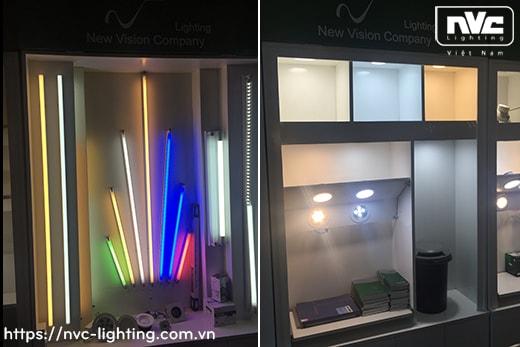 NBTLED T5E T6E - Bộ đèn tuýp LED T5/T6 thủy tinh tổng hợp, đui xuyên sáng lắp nối tiếp không điểm tối