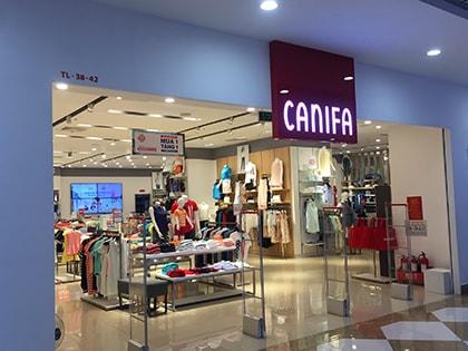 Đèn LED NVC chiếu sáng đẳng cấp Shop thời trang Canifa