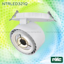 NTRLED321* 35W, CRI 90 - Đèn rọi LED COB nguyên khối 3 trong 1 (lắp thanh ray, đế gắn tường, lắp âm trần), mặt kính mờ, núm chống chói