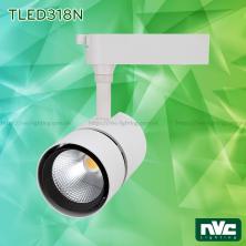 TLED318N 35W 50W, CRI 90 - Đèn rọi thanh ray LED COB liền khối, thân nhôm đúc sơn tĩnh điện, vân tán sáng
