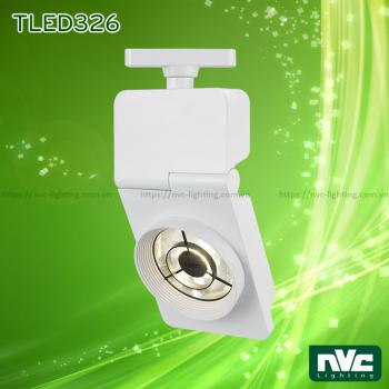 TLED326* 24W 35W, CRI 90 - Đèn LED rọi ray COB liền khối, chóa mờ chống chói, vân tán sáng, sơn tĩnh điện
