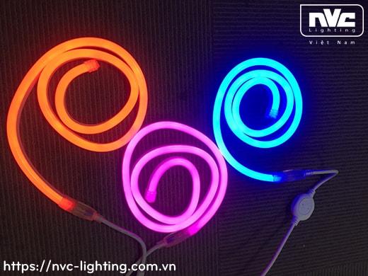 N2835 N5050 8W/m - Đèn LED dây Neon Sign IP65, dải dẫn màu với ánh sáng khuếch tán, điện áp 24V hoặc 220V, 120-126 mắt LED/m, góc chiếu 90°, cuộn 50m