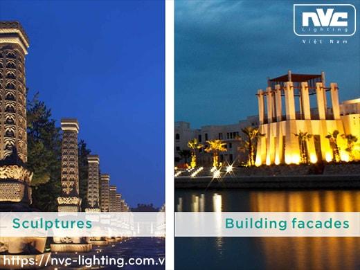 Ứng dụng chiếu sáng đèn pha LED NFDLED103 NVC Lighting