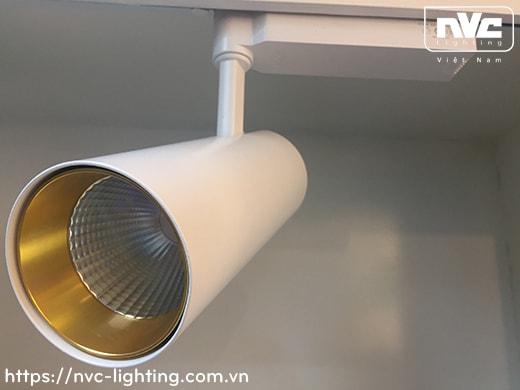 NTRLED327* TLED327* CRI 90 - Đèn rọi ray LED COB nguyên khối, vân tán sáng vàng, góc xoay ngang 350°, góc xoay dọc 90°