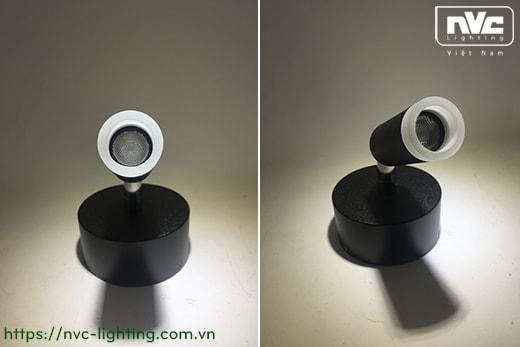 NWA205 3W, NWA206 2x3W - Đèn đọc sách gắn tường thân aluminum dáng tròn, quang thông tương ứng 120lm 240lm, góc chiếu 30 độ, chip Cree không rung nháy, bảo vệ mắt