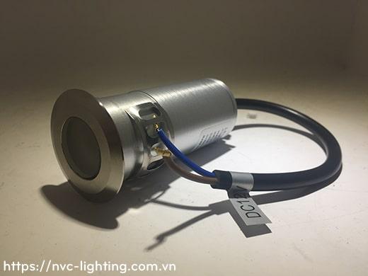 DL020 1W, DL024 3W, DL001 3W – Đèn LED âm đất thân inox 316 và aluminum, tản nhiệt bằng đồng và nhôm, điện áp 100V-240V, độ sáng 70lm & 120lm, góc chiếu 15/30/45/60 độ, Ra > 80, IP67