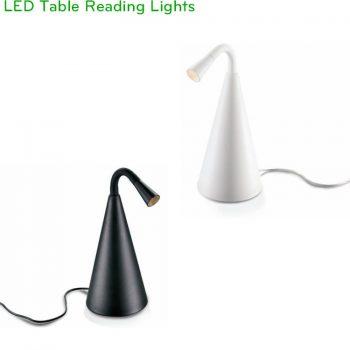NTL018-BK/WT - Đèn đọc sách để bàn công suất 3W, Ra 80, quang thông 120 lumens, góc chiếu 10 độ 20độ 30 độ, IP20