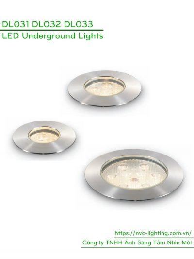 DL031 3W, DL032 6W, DL033 9W - Đèn LED âm đất thân inox 316 cao cấp, tản nhiệt nhôm, IP67, điện áp 100V-240V hoặc 12V/24V, góc chiếu 15/24/38/60 độ