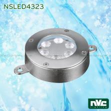 NSLED4323 12.5W 17W - Đèn LED âm nước thân inox 316, kính cường lực 8mm, đệm cao su EDPM kín nước, chip Osram, IP68