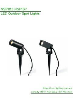 NSP183 NSP187 3W - Đèn LED cắm cỏ rọi cây IP65, 120 lumens, Ra > 80, AC220V-240V hoặc DC12V/24V, góc chiếu sáng 10/20/30 độ