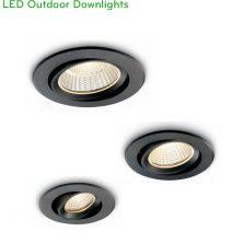 NDC335 6W, NDC336 9W, NDC337 12W – Đèn LED downlight âm trần IP65 chống ẩm, dùng ngoài trời lắp đặt sảnh, mái hiên, Ra 90