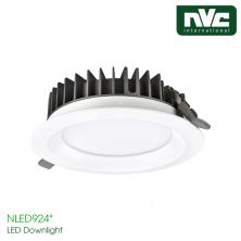 NLED9244 NLED9245 NLED9246 NLED9248 - Đèn LED downlight âm trần mặt lõm, kính mờ chống chói, đế tản nhiệt bằng hợp kim nhôm đúc cao cấp, chấn lưu rời