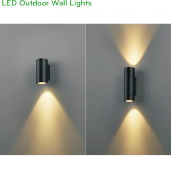 NWA215 COB 6W, NWA216 COB 2x6W - Đèn LED gắn tường ngoài trời thân tròn, chất lượng ánh sáng Ra > 90, độ sáng 430lm & 860lm, IP65