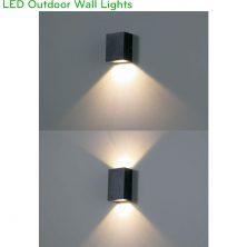 NWA250 1W, NWA251 2x1W - Đèn LED gắn tường ngoài trời thân vuông, chất lượng ánh sáng Ra > 90, độ sáng 70lm & 140lm, IP65